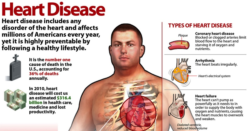 heart diseases High blood pressure is a major risk factor for heart disease, stroke, congestive heart failure,  smoking causes cancer, heart disease, stroke, and lung diseases.